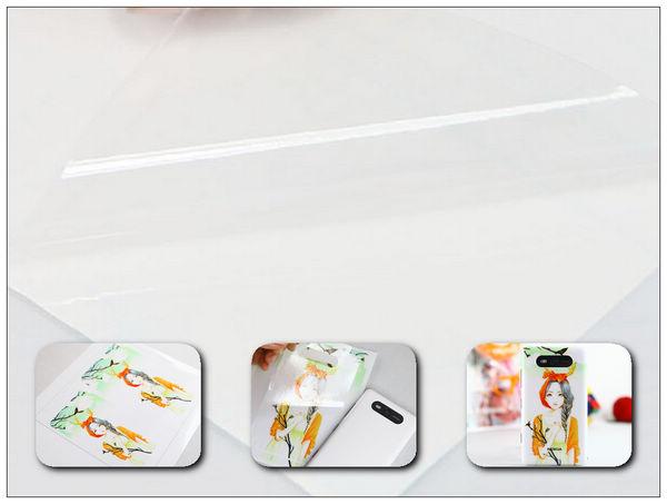 Transparent film for printing design