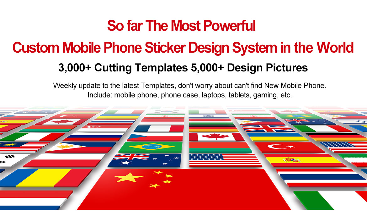 So far The Most Powerful Custom Mobile Phone Sticker Design System in the World