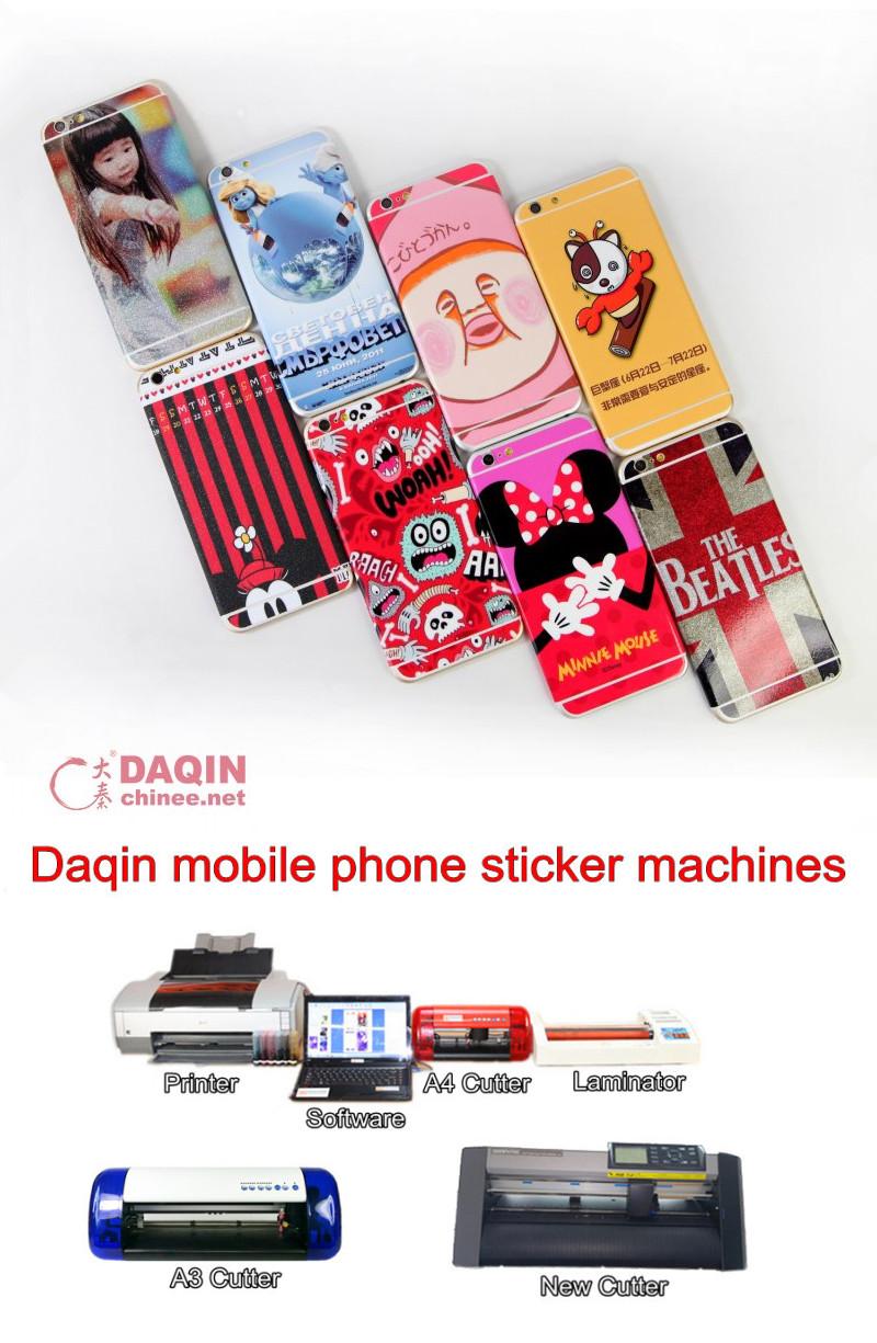 daqin mobile phone sticker machine,phone stickers