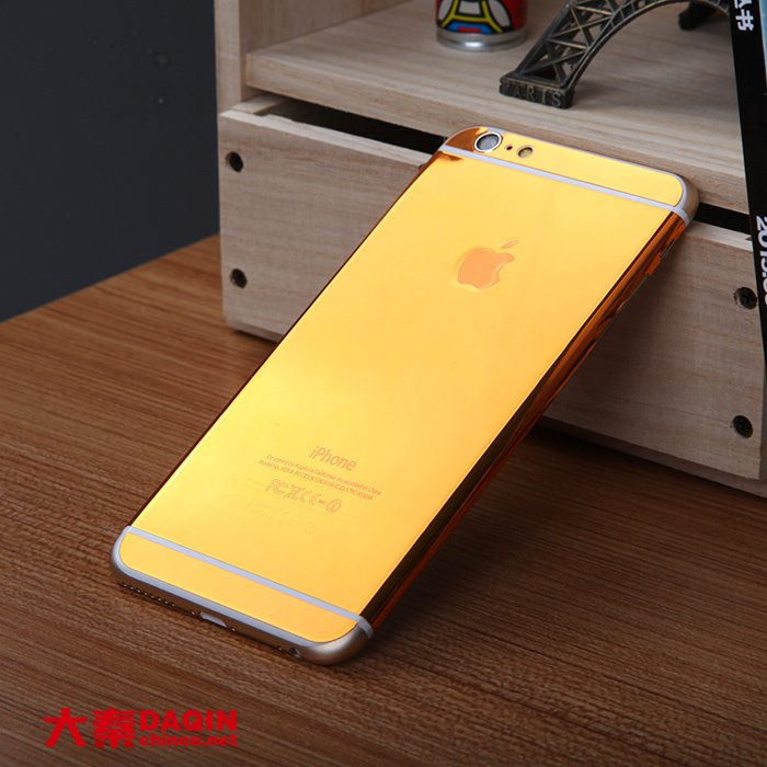 24k gold plated iphone 6s plus daqin machines can produce custom golden sticker