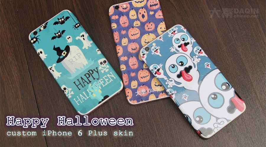 Halloween gift, custom mobile skin