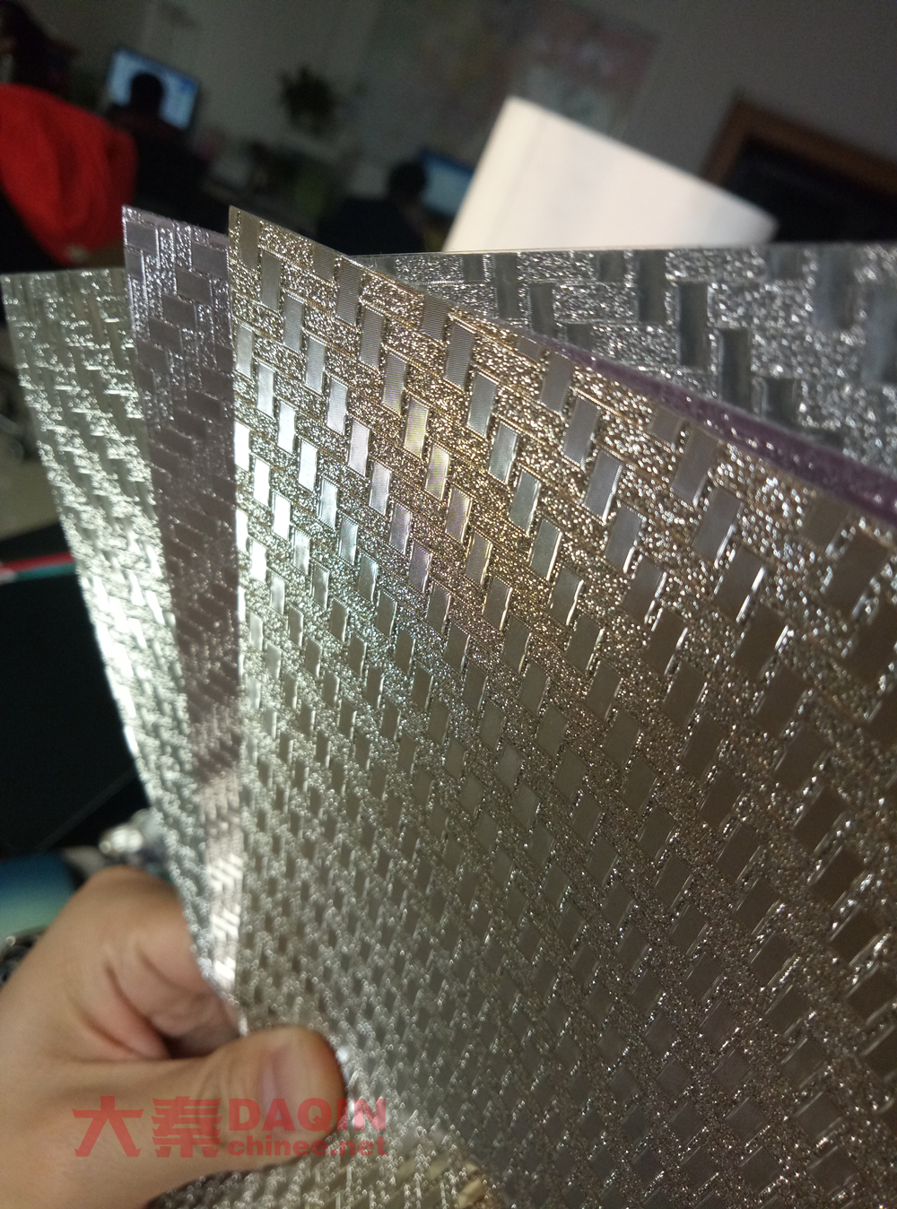 glitter shining carbon fiber skin